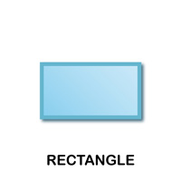 Rectangle Geometric Shape Templates