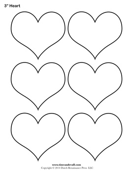 printable heart templates - Printable Outlines