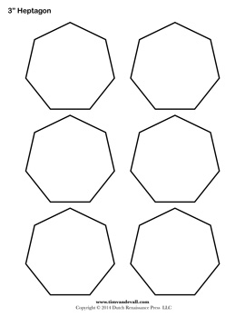 Printable Heptagon Templates