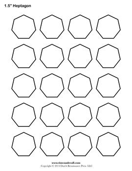 Printable Heptagon Templates | Blank Heptagon Shape PDFs