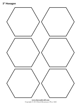 photo regarding Printable Hexagon Template named Blank Hexagon Templates Printable Hexagon Condition PDFs