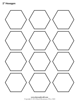 Number Names Worksheets hexagon printable template : Blank Hexagon Templates | Printable Hexagon Shape PDFs