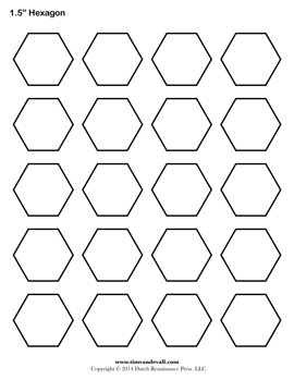 Blank hexagon templates printable hexagon shape pdfs for 1 5 inch hexagon template