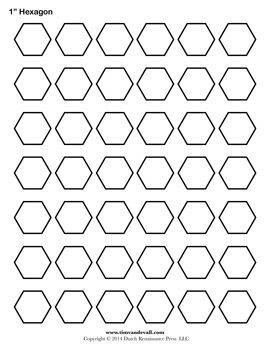 Blank Hexagon Templates | Printable Hexagon Shape PDFs