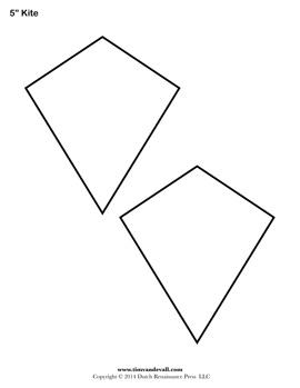 Free Kite Templates Blank Kite Shapes To Print