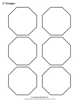 Free printable octagon templates blank octagon shape pdfs printable octagontemplates pronofoot35fo Choice Image