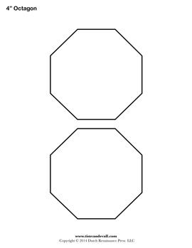Number names worksheets octagon template free for Octagon coloring page