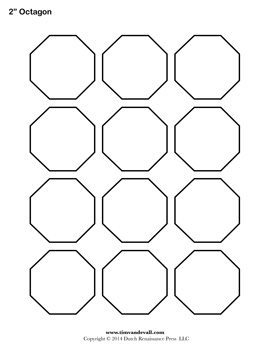 Printable Octagon Outline