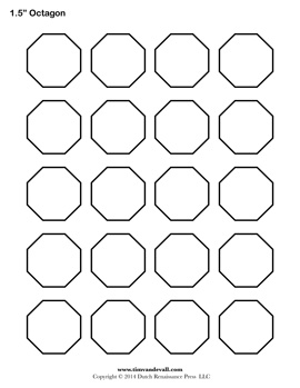 Free printable octagon templates blank octagon shape pdfs octagon pronofoot35fo Choice Image