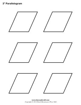Printable Parallelogram Templates