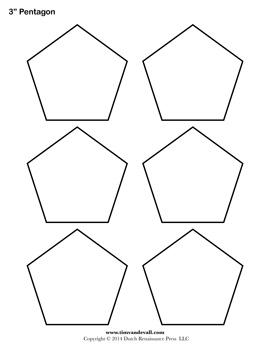 Printable Pentagon Templates