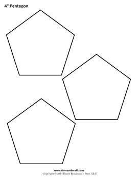 Printable Pentagon Templates Blank Pentagon Shape Pdfs