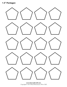 Printable pentagon templates blank pentagon shape pdfs for 1 5 inch hexagon template