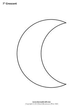 Free Printable Crescent