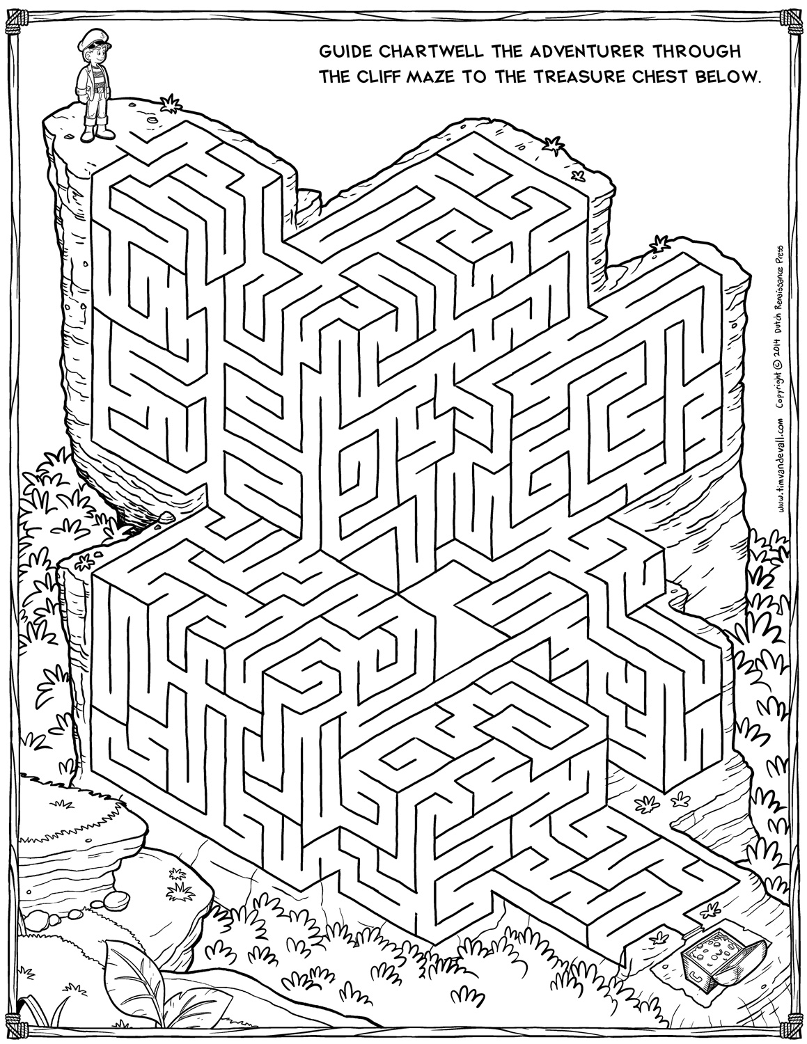 Medium Rectangle Maze 4 Challenges for Adults – Math Maze Worksheets
