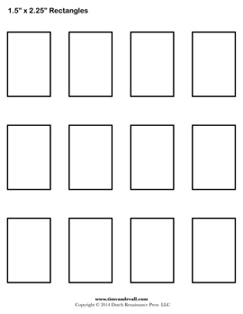 Printable Rectangles  Printable Blank Tickets