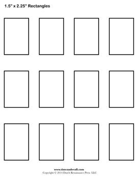 printable rectangles