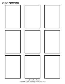 Rectangle Templates | Blank Shape Templates| Free Printable PDF