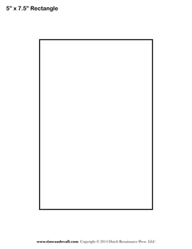 rectangle template to print