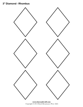 Printable Diamond Templates