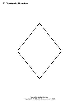 Candid image with printable diamond shape