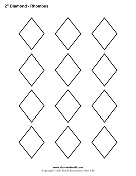 Printable Diamond Outline