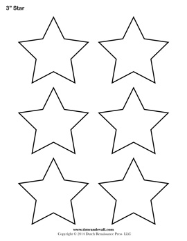 photo regarding Stars Printable Template identified as Printable Star Templates No cost Blank Star Condition PDFs