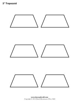 Printable Trapezoid Templates