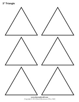 printable triangle templates