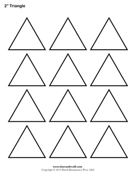 photo relating to Triangle Printable titled Blank Triangle Templates Printable Condition Template PDFs