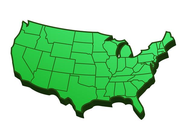 blank 50 states map pdf