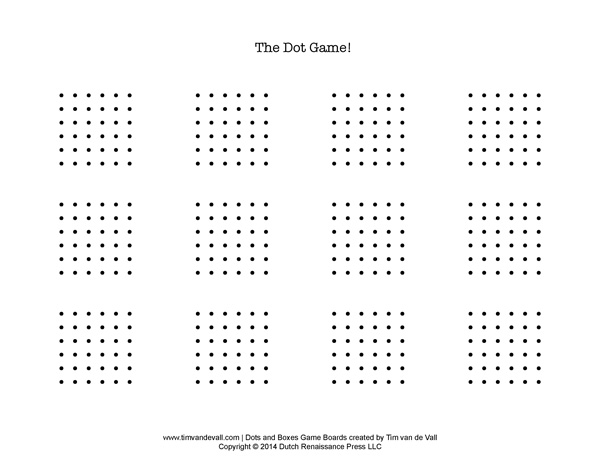 It is a graphic of Crafty Dots Game Printable