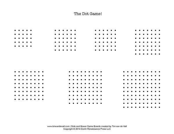 Printable Dot Paper Dots And Boxes Pen And Paper