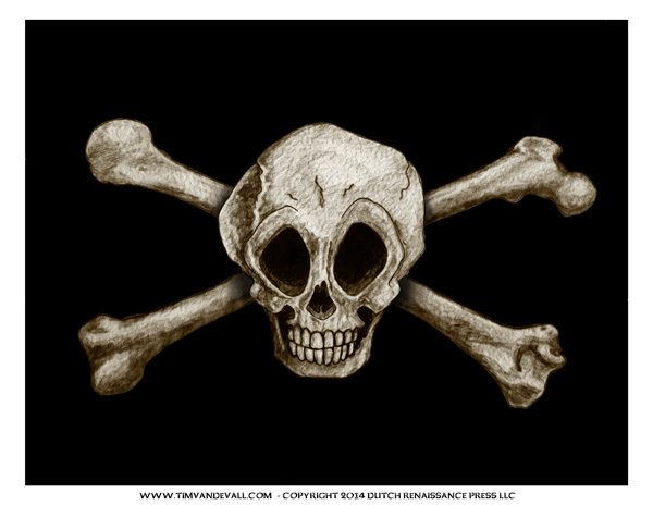 Jolly Roger Pirate Flag Printable for Kids
