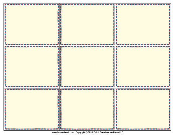 Terrible image pertaining to printable flash card template