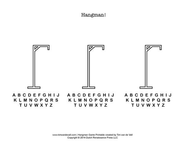 Printable hangman game click for details hangman template printable