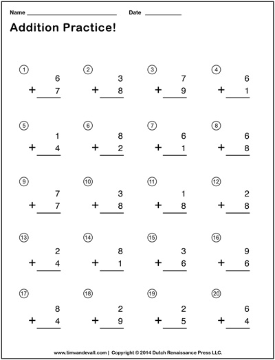 math worksheet : simple addition worksheets for kids  free math practice problems : Addition Worksheet Free