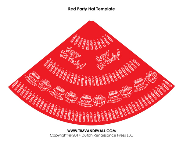Free Birthday Party Hat Template Make Your Own Hats