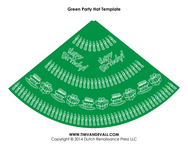 Birthday Party Hat Template 03 Tim S Printables