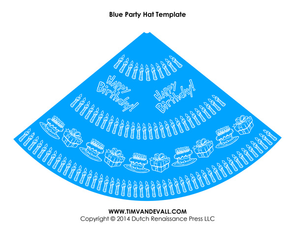 Birthday Party Hat Template 04 Tims Printables