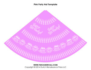 birthday party hat template 05 tim s printables