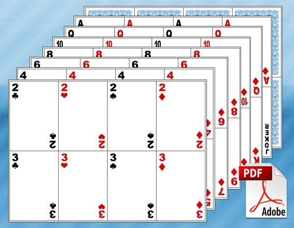 image relating to Printable Card Games titled Blank Enjoying Card Template Create Your Individual Actively playing Playing cards PDF