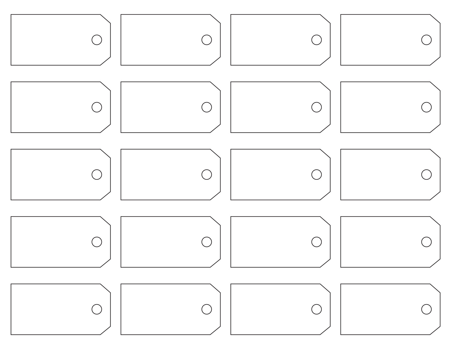 Free Printable Blank Tag Templates - Plain address labels template