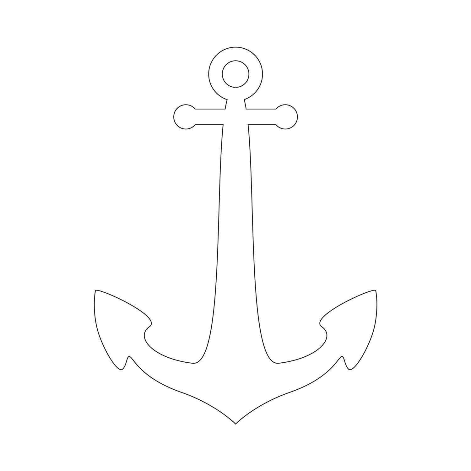 Geeky image with regard to anchor stencil printable