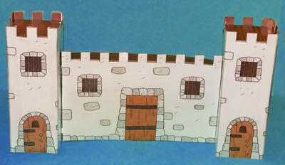 build a cardboard castle