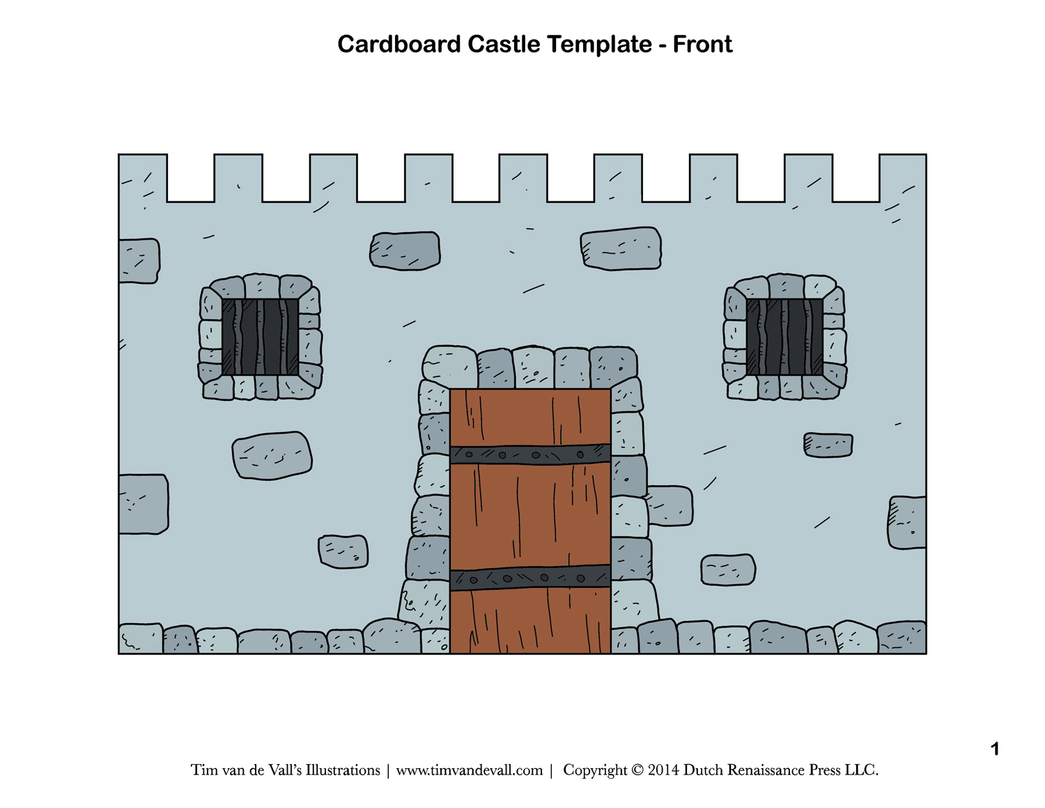 picture relating to Printable Castle Template identified as No cost Do-it-yourself Cardboard Castle for Small children Create Your Individual
