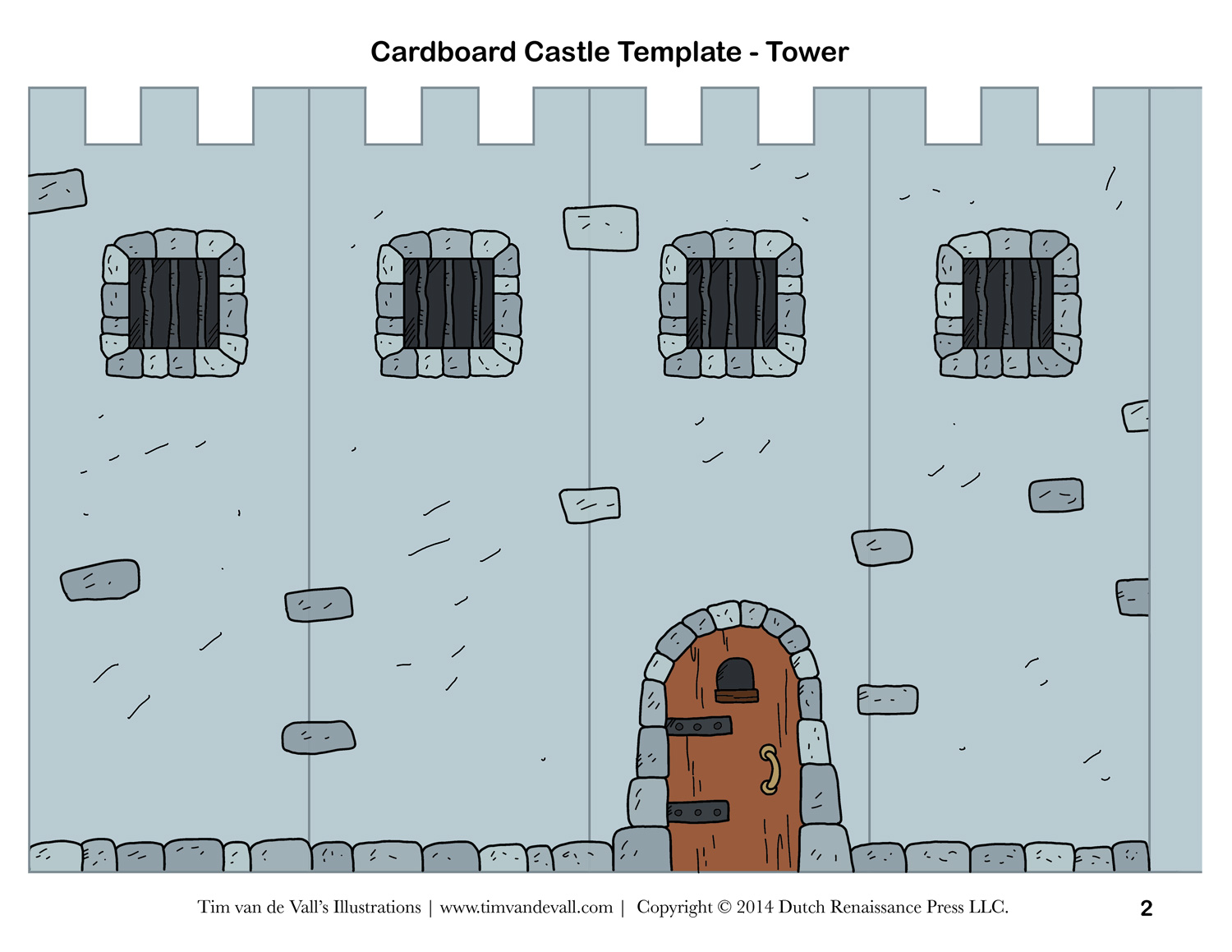 photo about Printable Castle Template named Cost-free Do it yourself Cardboard Castle for Small children Establish Your Personalized