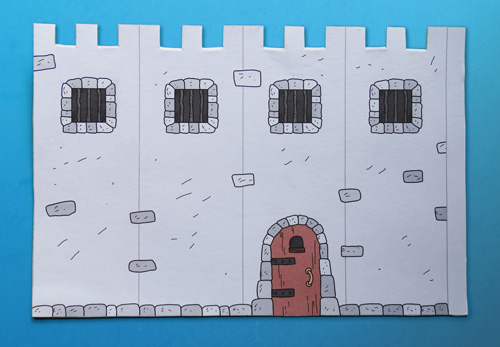 how to make a cardboard castle step by step