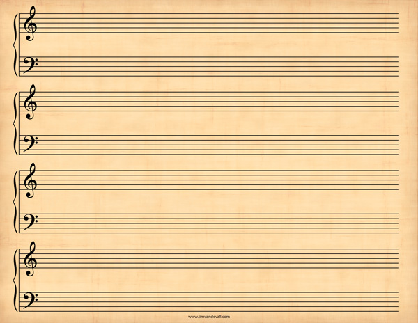 grand staff paper These music worksheets can help teach students about notes, rests, clefs,  this printable grand staff paper features wide lines for children.