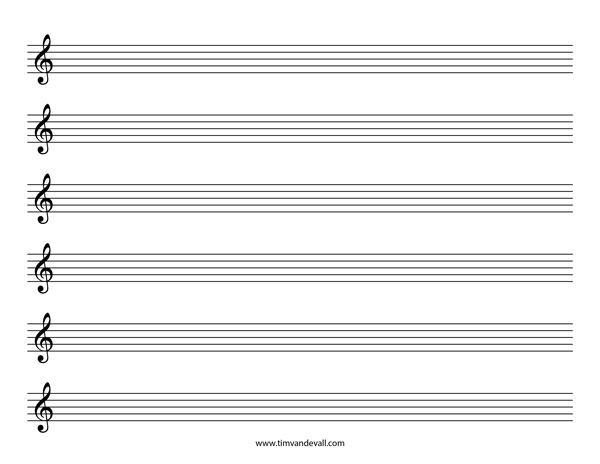 Writing music on staff paper online